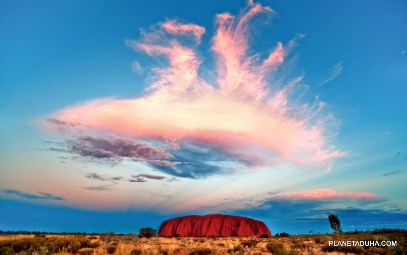 Скала Улуру (Uluru) - место силы аборигенов Анангу