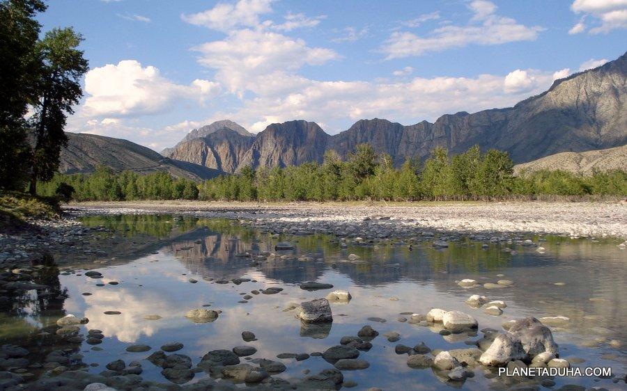 Расширение горного ущелья - Горный Алтай