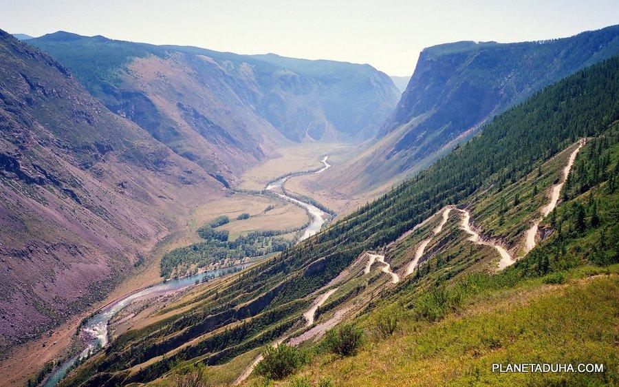 Подъем на перевал Кату-Ярык - Горный Алтай