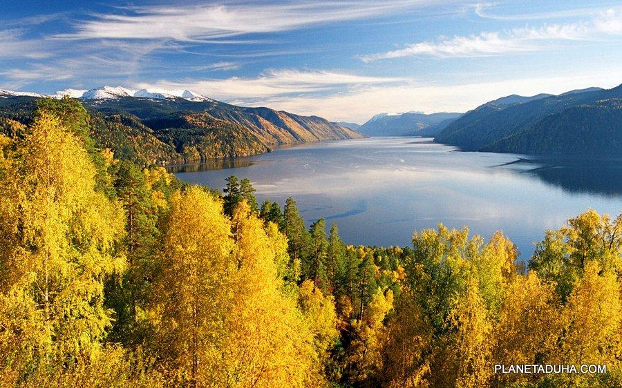 Золотая осень на Телецком озере - Горный Алтай