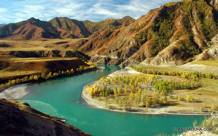 Катунь (Кадын) - самая крупная река Горного Алтая